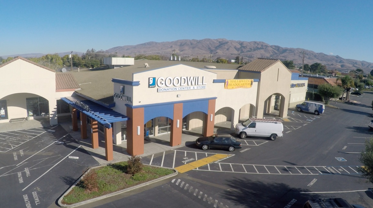 drone shot milpitas goodwill store